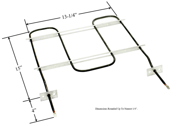 Model TC-2839: Chambers Q523-031 / Whirlpool CH2839 Range/Oven Broil Replacement Element, 2,800W/2,100W @ 240V/208V