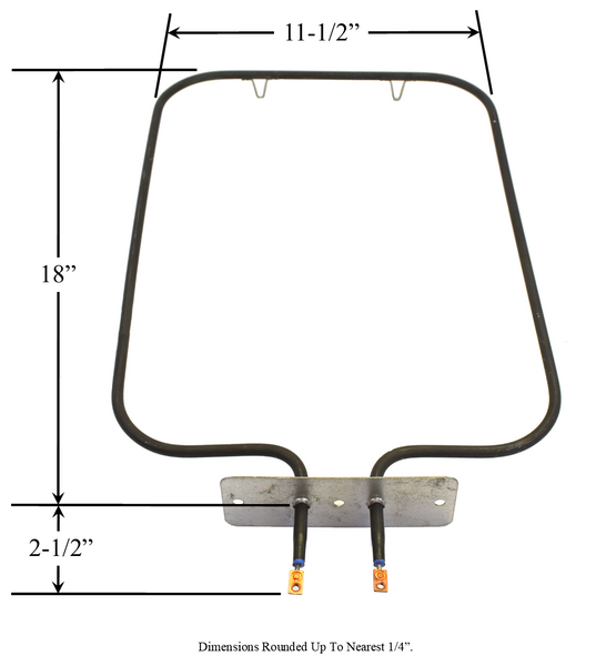 Model TC-2870: Dwyer 925-012/KA-90T Range/Oven Bake Replacement Element, 2,250W @ 208V