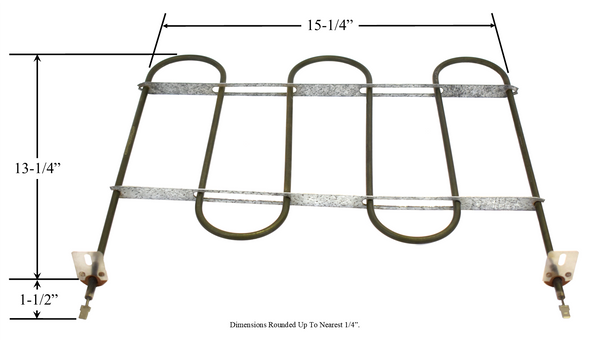 Model TC-4821: Roper/Kenmore 238156 Equivalent Range/Oven Broil Replacement Element, 3,000W  @ 250V