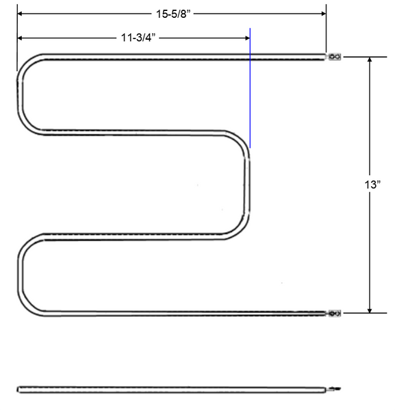 Model TC-871409001: House of Webster 571409-001 Equivalent Range/Oven Broil (Top) Replacement Element, 2,700W @ 240V
