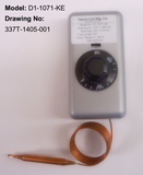 D1-1071: 0°-100°F DPST Heating Line Voltage Mechanical Thermostat, 120 to 480VAC