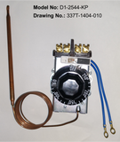 D1-2544: 60°-250°F DPST Heating Line Voltage Mechanical Thermostat, 120 to 480VAC