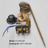 D1-2573: 60°-250°F DPST Heating Line Voltage Mechanical Thermostat, 120 to 480VAC