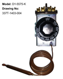 D1-5575: 200°-550°F DPST Heating Line Voltage Mechanical Thermostat, 120 to 480VAC
