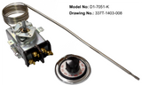 D1-7051: 300°-700°F DPST Heating Line Voltage Mechanical Thermostat, 120 to 480VAC