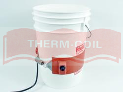 Therm Coil 5-Gallon Silicone Drum Heater With 25°-330°F Adjustable Thermostat And SJT Power Cord Set, 300W, 120V