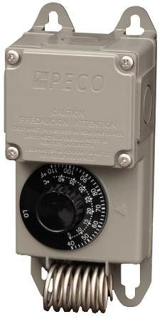 Peco TF115-023 -30°F to 100°F SPDT Coiled Thermostat With NEMA 4X Moisture-Resistant Enclosure