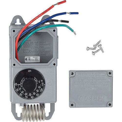 Peco TF115-001 40°F to 110°F SPDT Coiled Thermostat With NEMA 4X  Moisture-Resistant Enclosure