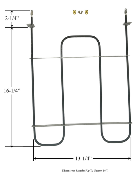 Model TC-329: Whirlpool 4333168 Equivalent Range/Oven Broiler Replacement Element, 2,250/3,000W @ 208/240V