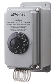 Peco TH109-009 40°F to 100°F 2-Stage SPDT Coiled Thermostat With NEMA 4X Moisture-Resistant Enclosure