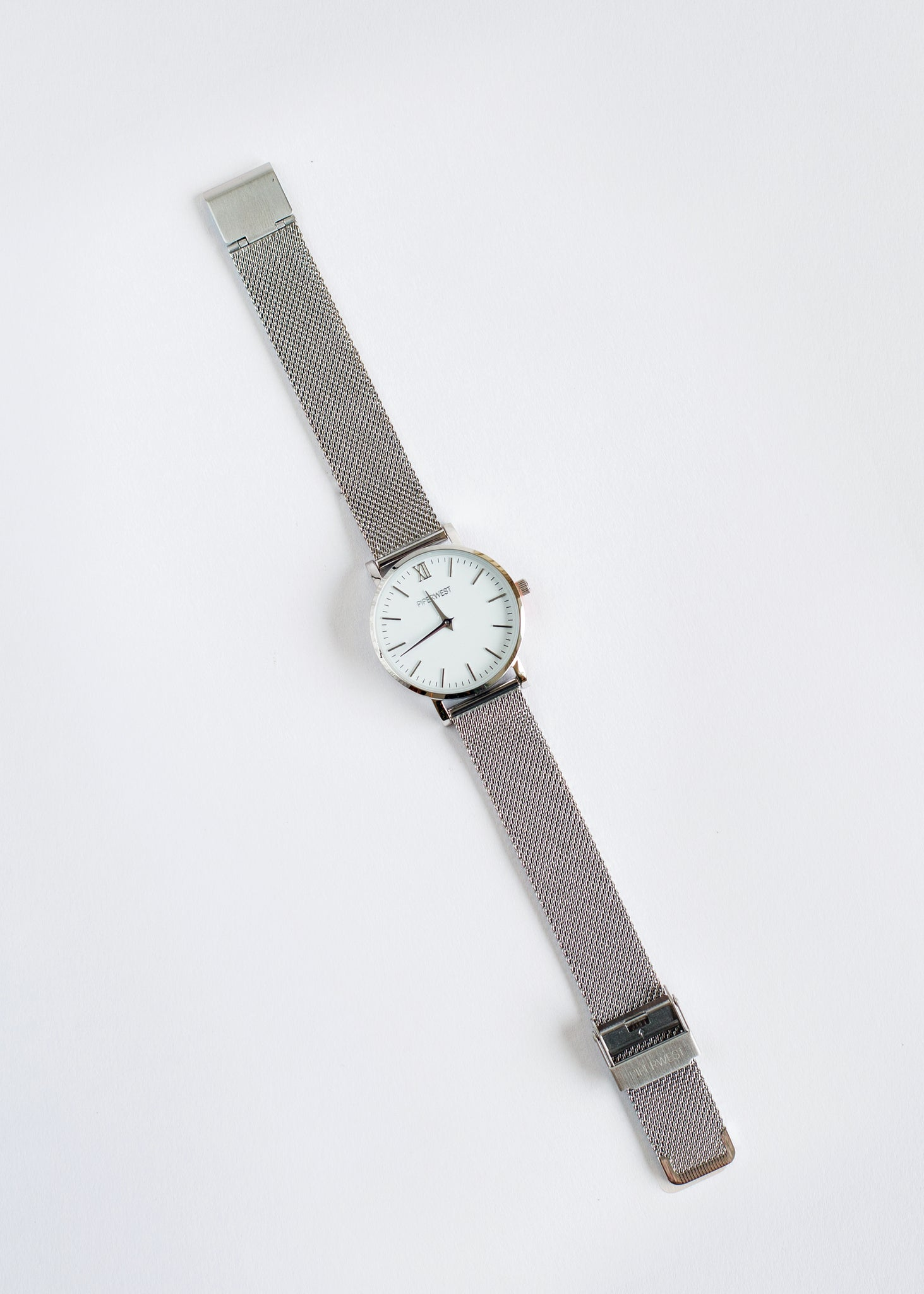 Mini Mesh Minimalist Watch 32mm Silver