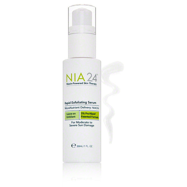 NIA24 Rapid Exfoliating Serum - 1 oz - $82.00 - With Swatch