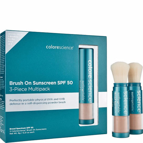 Colorescience Brush-on Sunscreen SPF 50 3-piece Multipack