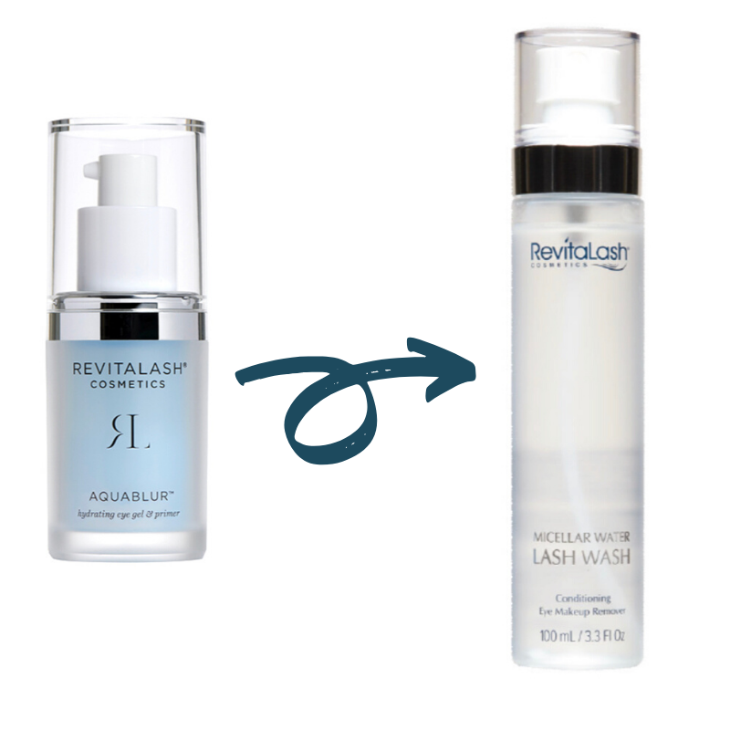BOGO RevitaLash AquaBlur Hydrating Eye Gel & Primer + RevitaLash Micellar Water Lash Wash (Save $36)