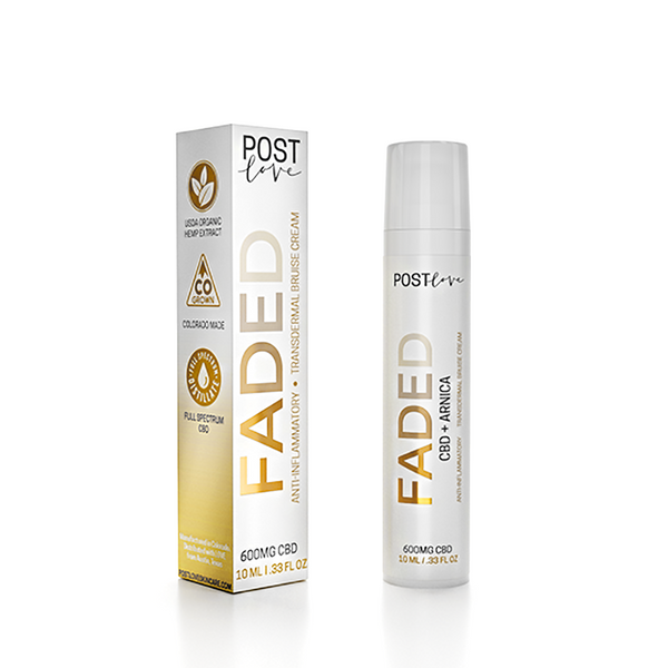 Faded by Post Love - Transdermal Bruise Cream Made With USDA Organic CBD (10 mL)