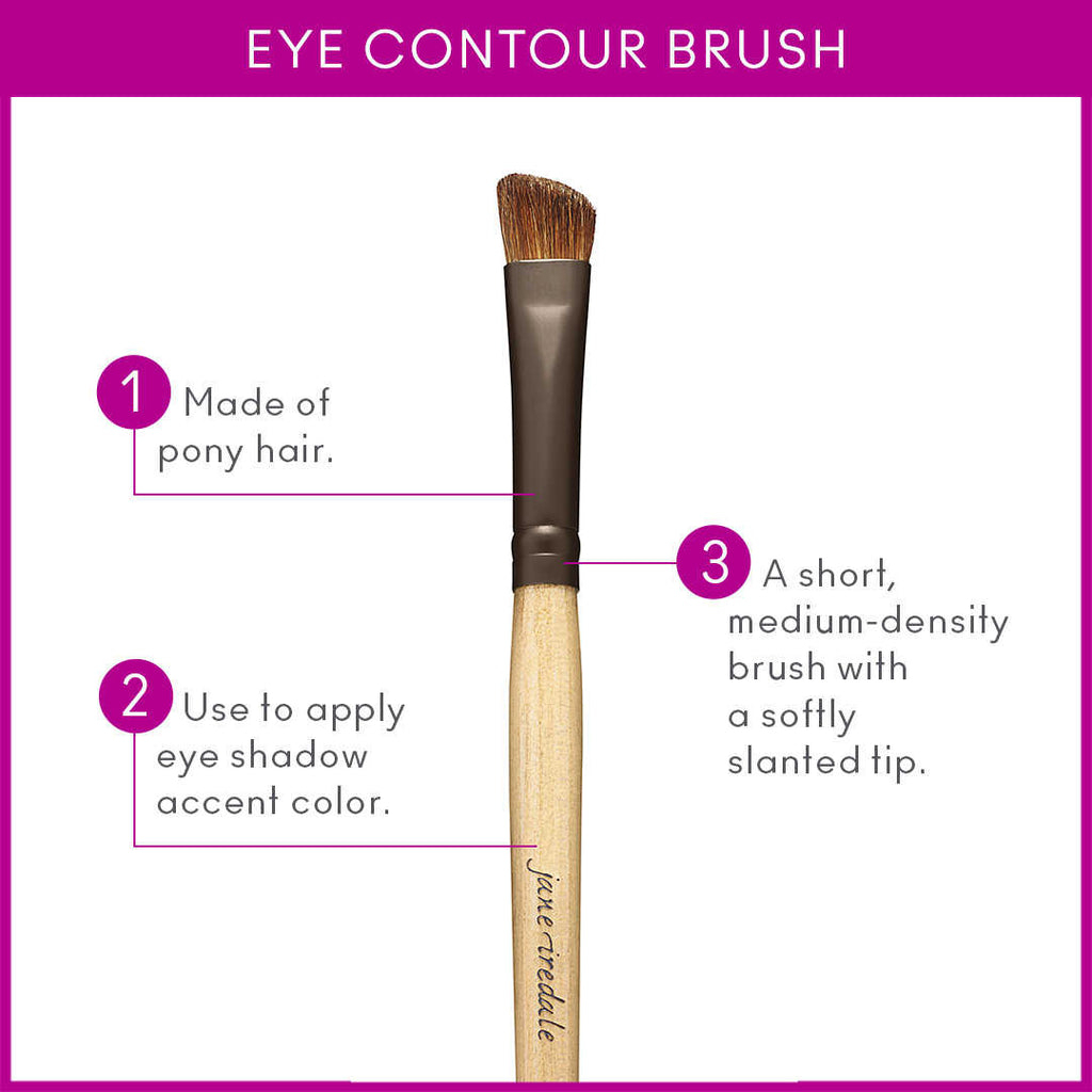 jane iredale Eye Contour Brush - $20.00 - Details of Brush