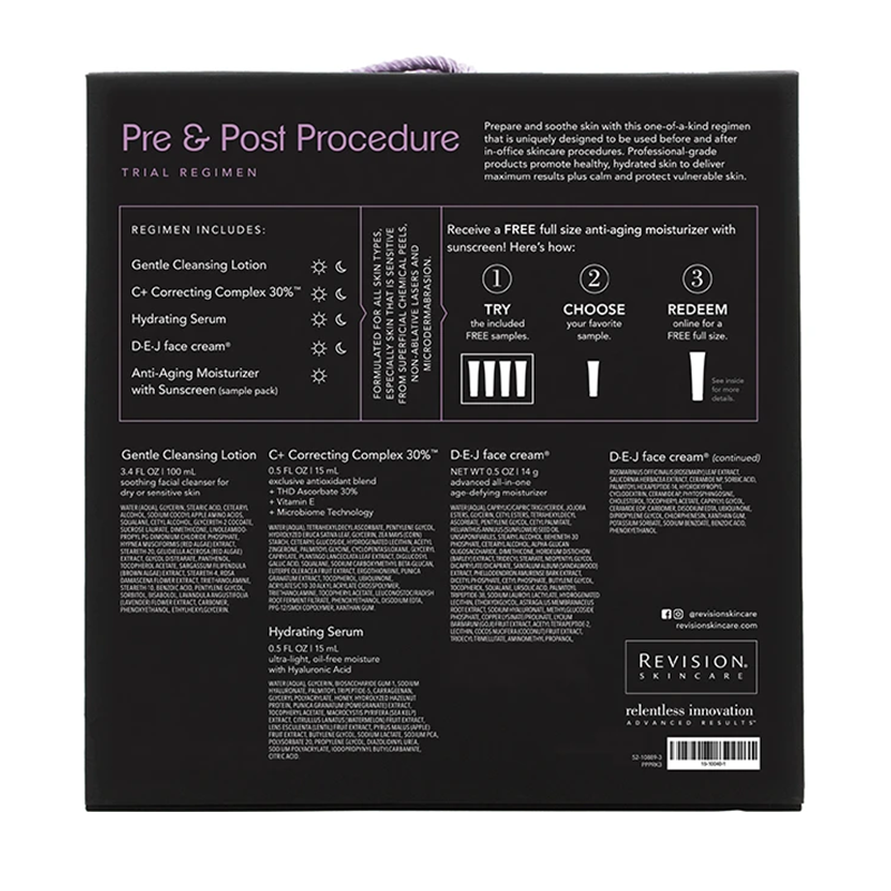 Pre & Post Procedure Trail Regimen - Ingredients Box