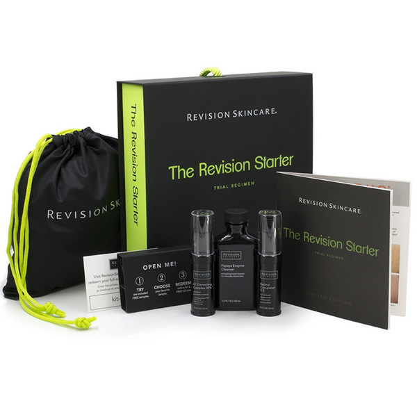 Revision Skincare The Revision Starter Trial Regimen Opened- 3 piece kit with samples