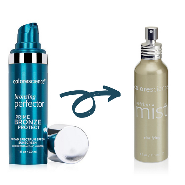 BOGO Colorescience Bronzing Perfector SPF 20+ Colorescience Clarifying Setting Mist (Save $36)