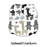 Animal Crackers | FuzziBunz | One Size Pocket Diapers