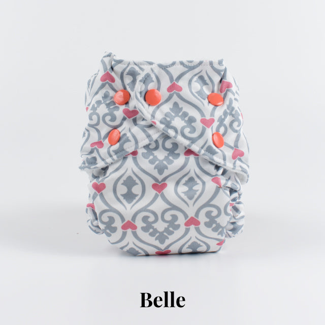 Belle | FuzziBunz | One Size Pocket Diapers