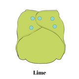 Lime | FuzziBunz | All In One Diaper