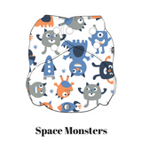 Space Monsters | FuzziBunz | One Size Pocket Diapers