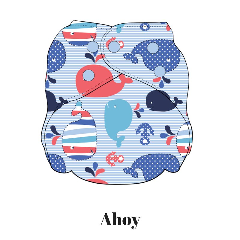 Ahoy | FuzziBunz | First Year Pocket Cloth Diapers