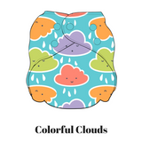 Colorful Clouds | FuzziBunz | One Size Pocket Diapers