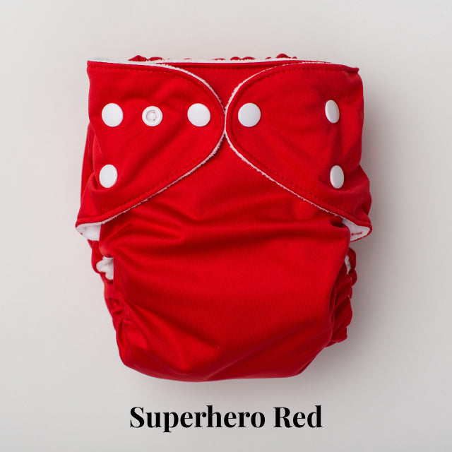 Superhero Red | FuzziBunz | Perfect Size Diapers