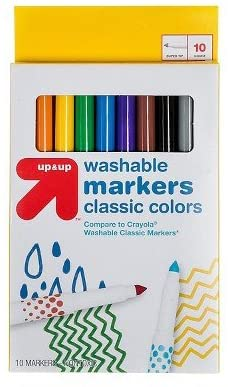 Markers Fine Tip Washable Classic Colors 10ct (Compare to Crayola174; Washable Classic Markers) - up & up153; Multicolor