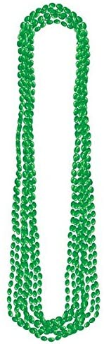 Amscan Metallic Bead Necklace, Party Accessory, Green