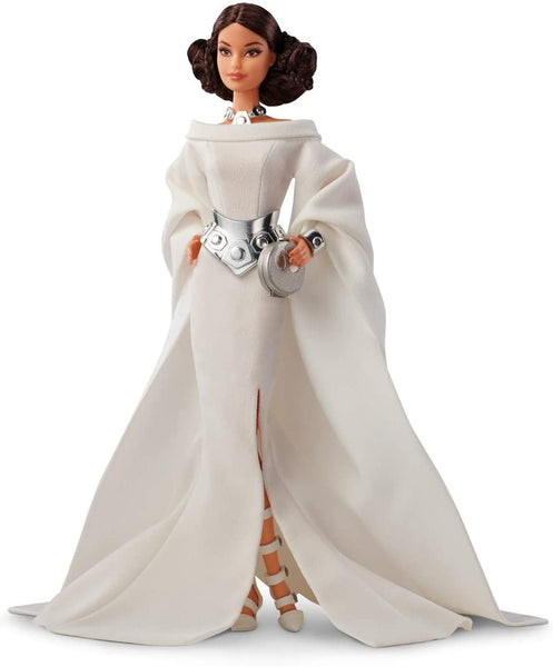Barbie Collector Star Wars Princess Leia Barbie Doll, in White Gown and Accessories, with Doll Stand and Certificate of Authenticity [Amazon Exclusive]