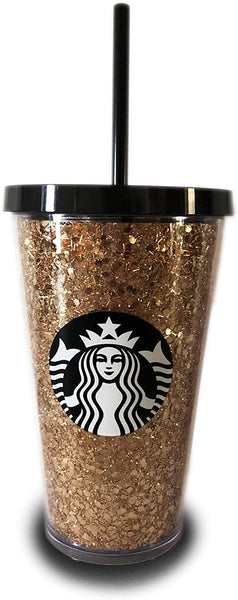 Starbucks Holiday Glitter Tumbler Gold 16 oz