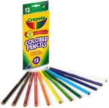 Crayola 68-4012 Long Colored Pencils 12 Count