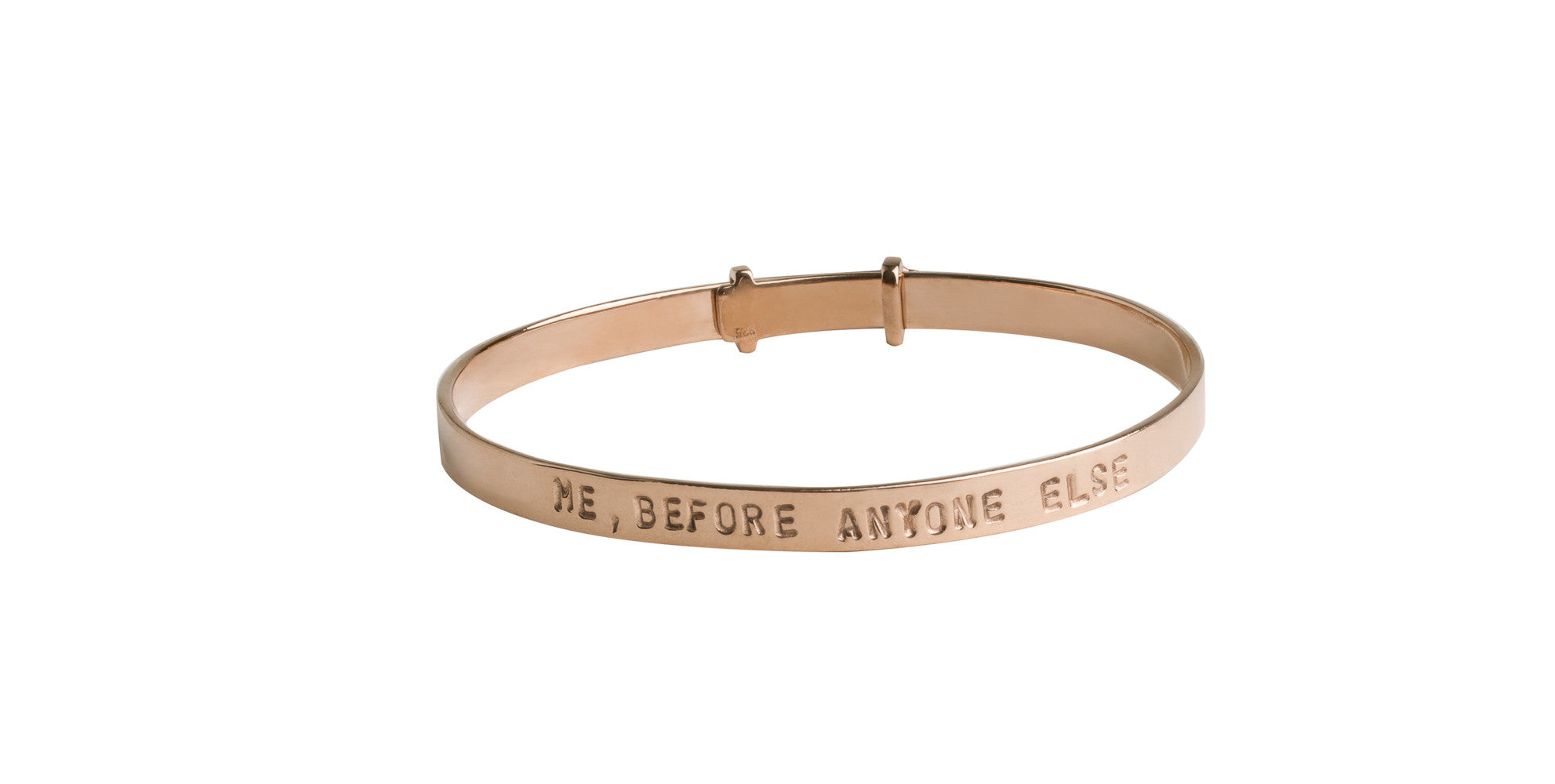 ME, BEFORE ANYONE ELSE Adjustable Bangle