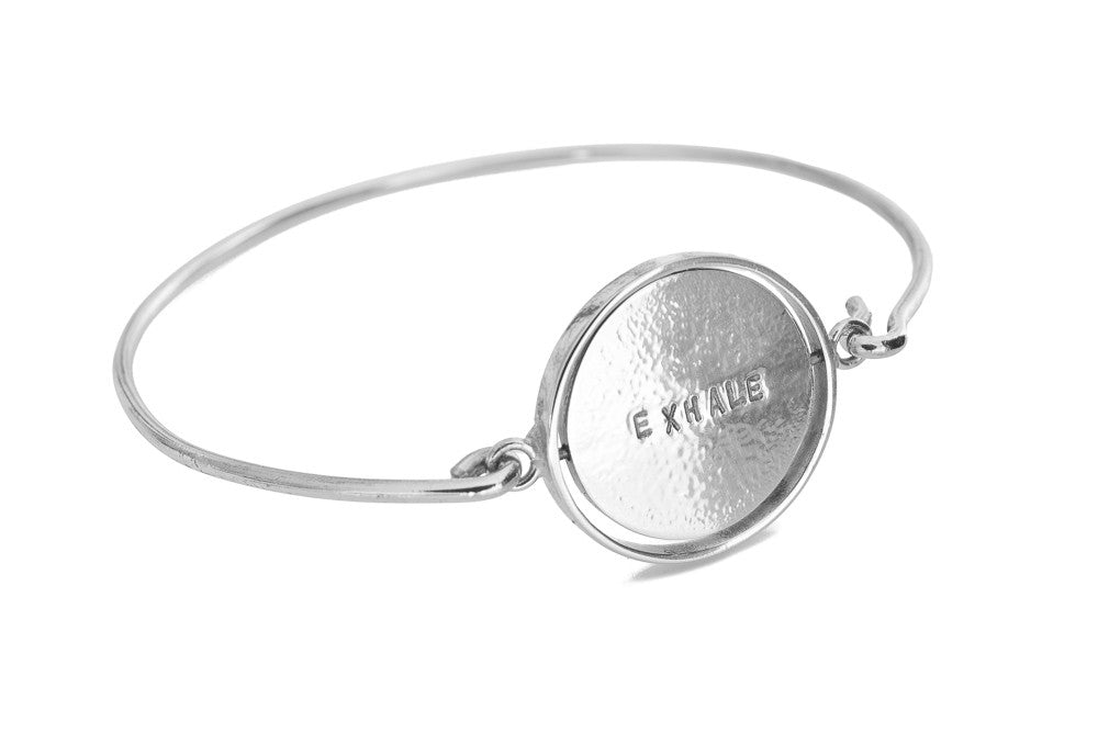 INHALE / EXHALE Reversible Bangle - Silver