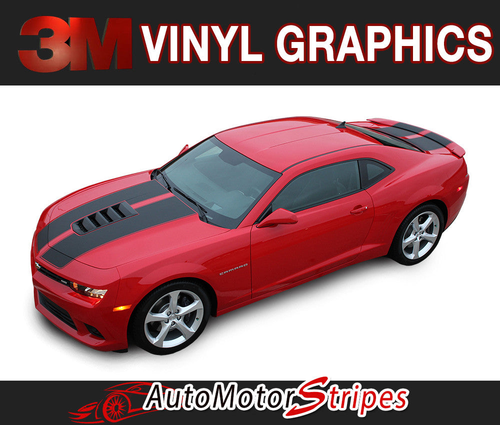 AutoMotorStripes features durable Professional 3M Quality Vinyl Graphics 2010-2015 Chevy Camaro Vinyl Graphics, Striping Kits and Decal Packages for your Camaro LS, LT, RS, SS or Camaro ZL1 Z28