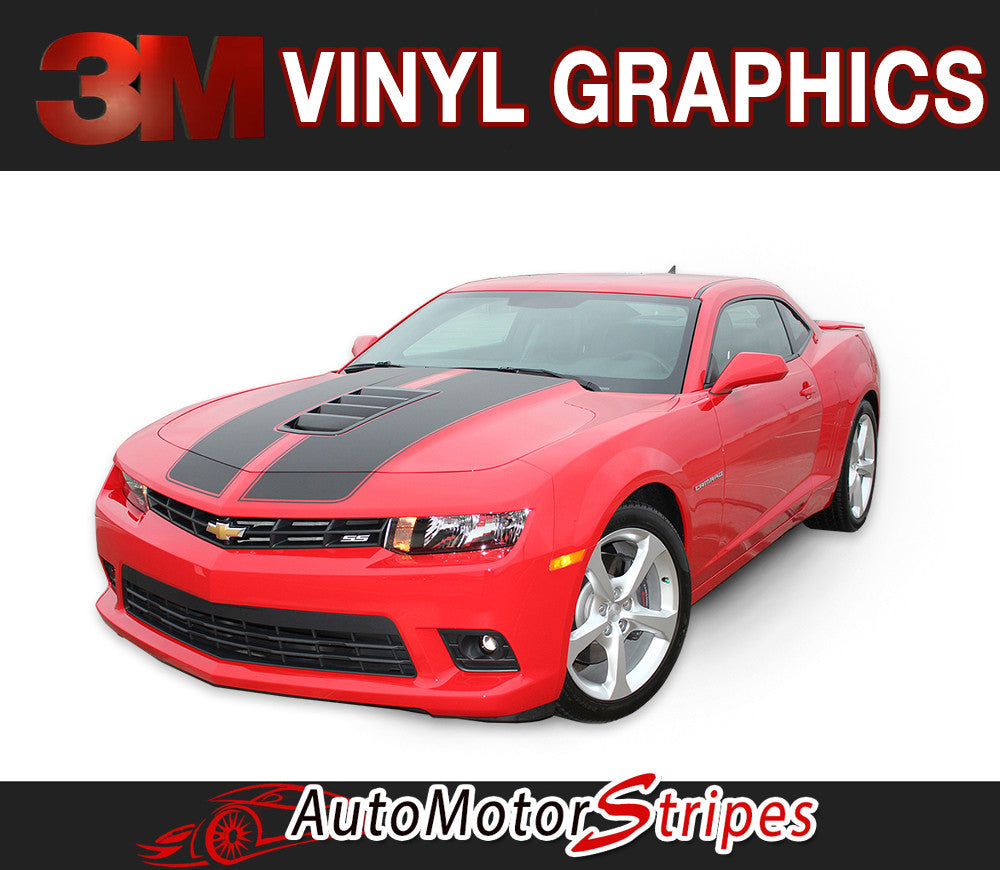 AutoMotorStripes Features S-SPORT Professional Vinyl Graphics Decals and Stripe Packages for 2010 2011 2012 2013 2014 2015 Chevy Camaro