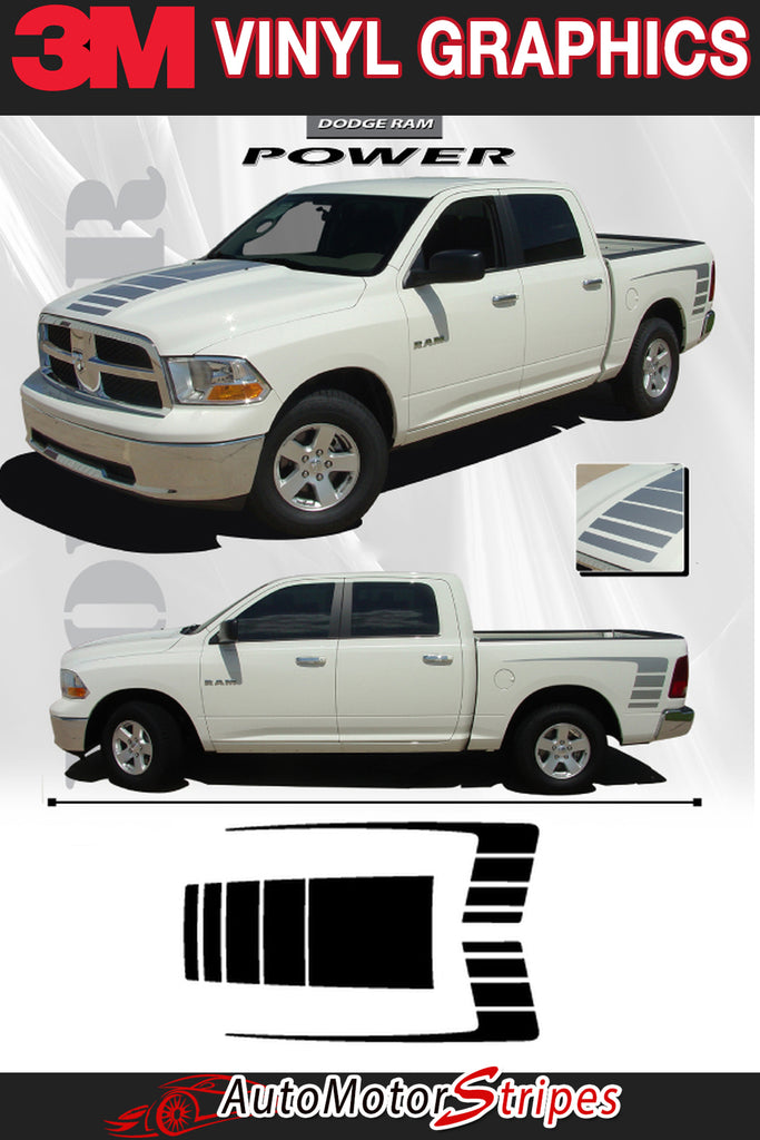 Dodge Ram Truck Vinyl Graphics | 2009-2018 Dodge Ram Stripes and Decals