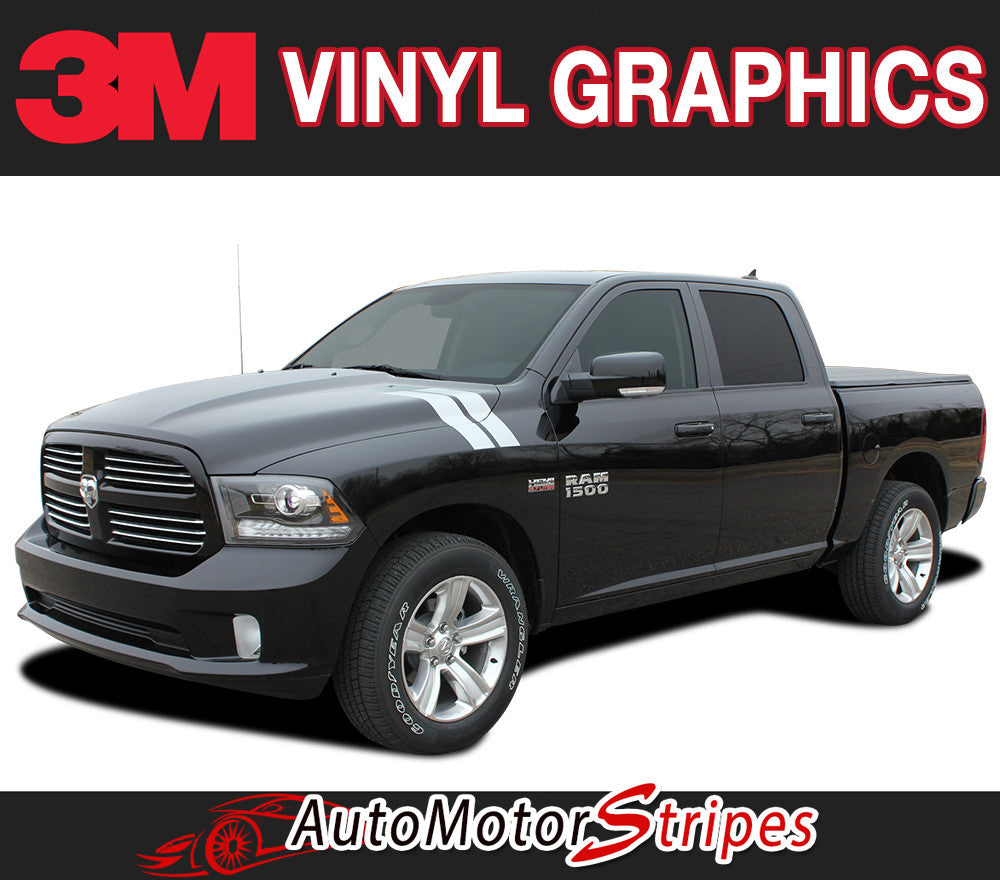 RAM DOUBLE BAR vinyl striping package, brand new from AutoMotorStripes!