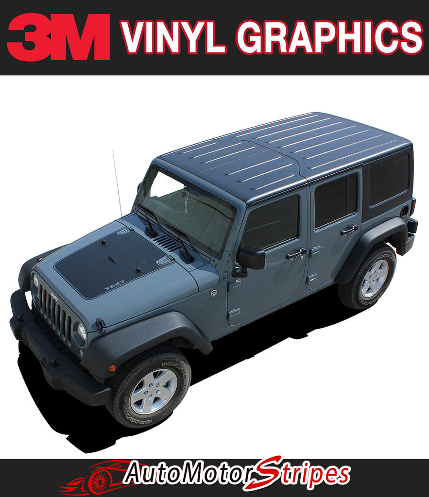 Jeep Wrangler OUTFITTER vinyl graphic and striping packages, brand new from AutoMotorStripes!