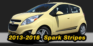 Chevy Spark Vinyl Graphics Decals Stripe Package Kits