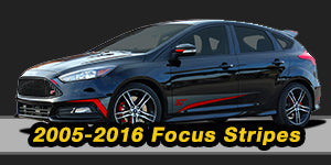 Ford Focus Vinyl Graphics Decals Stripe Package Kits