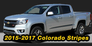 2015 2016 2017 Chevy Colorado Vinyl Graphics Decals Stripe Package Kits
