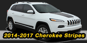 Jeep Cherokee Vinyl Graphics Decals Stripe Package Kits