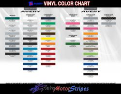 Avery Color Charts