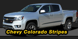 2015 2016 2017 2018 Chevy Colorado Vinyl Graphics Decals Stripe Package Kits