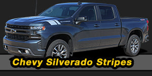 2019 2020 Chevy Silverado Stripes Decals Vinyl Graphic Kits