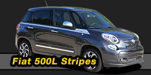 Fiat 500L Vinyl Graphics Decals Stripe Package Kits